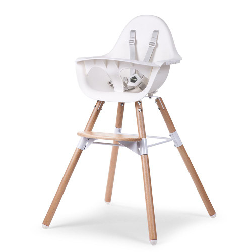 Childhome Evolu 2 Highchair - Natural / White