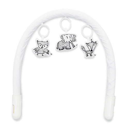 DockATot Toy Arch and Toy Set - Pristine White/Cheeky Chums