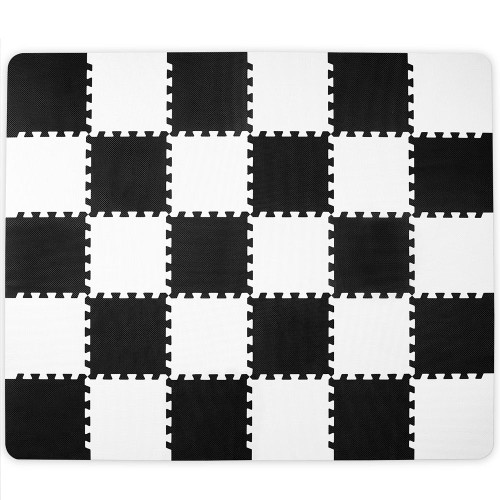 Kinderkraft Luno Foam Puzzle Mat - Black & White