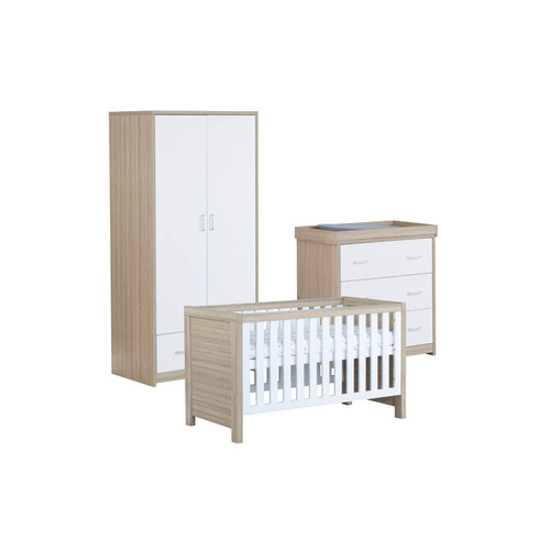 Babymore Luno 3-Piece Room Set - Oak/White