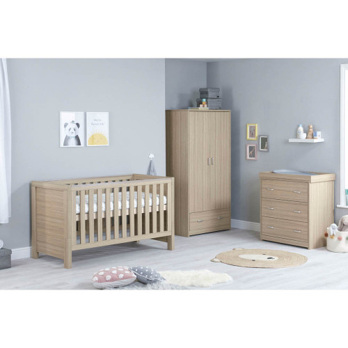 Babymore Luno 3-Piece Room Set - Oak
