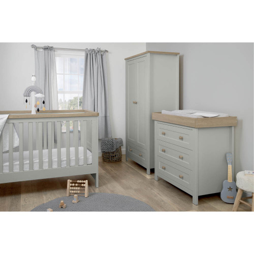 Mamas & Papas Keswick 3-Piece Range - Cool Grey/Oak