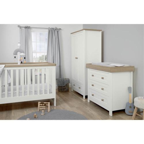 Mamas & Papas Keswick 3-Piece Range - White/Oak