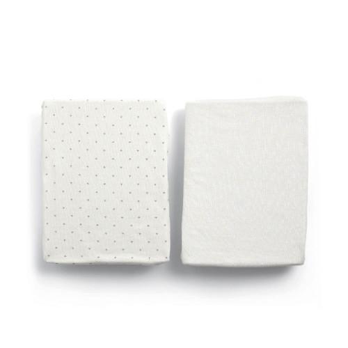 Mamas & Papas Lua Crib 2 Pack Fitted Sheets (87 x 50cm) - Stars