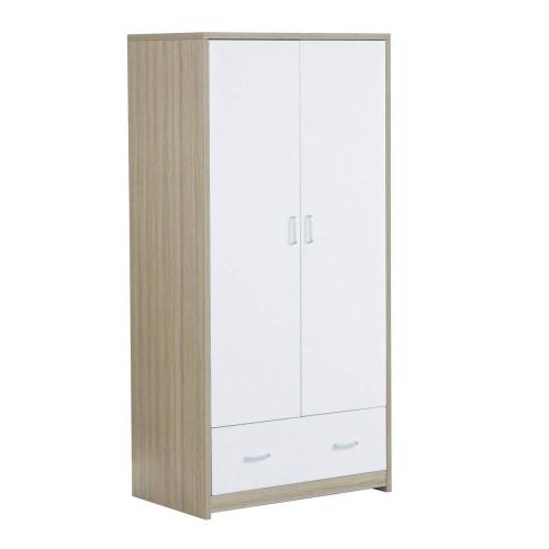 Babymore Luno/Veni Wardrobe - Warm Oak & White