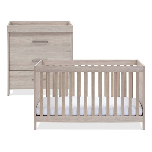 Silver Cross Ascot Cot Bed & Dresser