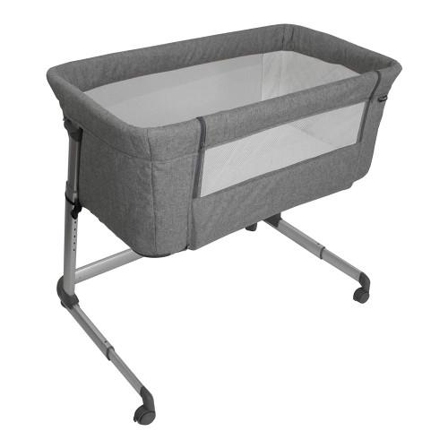 My Babiie Closer Bedside Crib - Grey