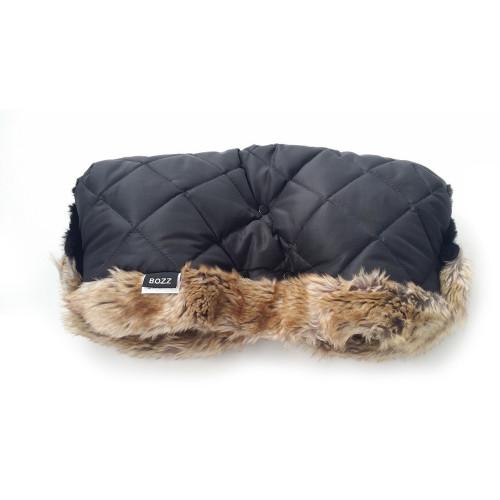 Bozz Hand Warmer Fleece With Fur - Black