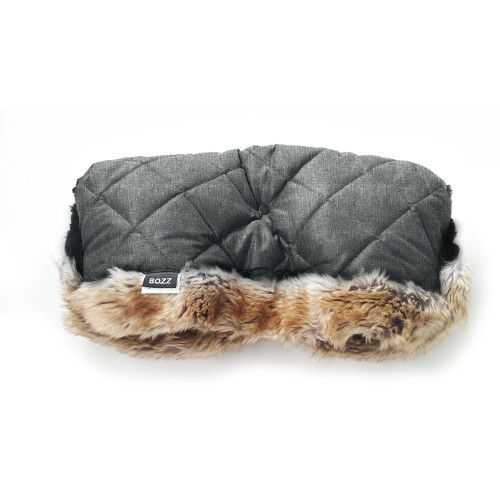 Bozz Hand Warmer Fleece With Fur - Grey Melange