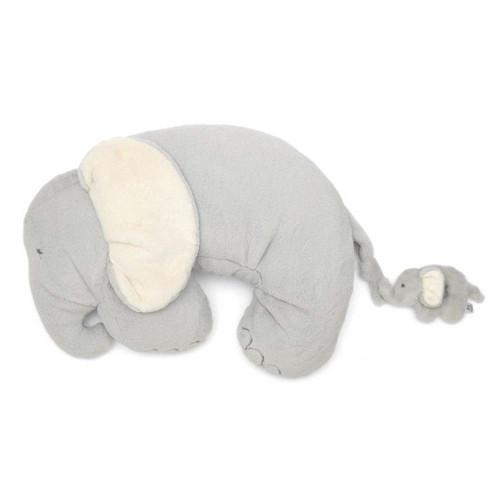 Mamas & Papas Elephant & Baby Tummy Time Activity Rug & Rattle