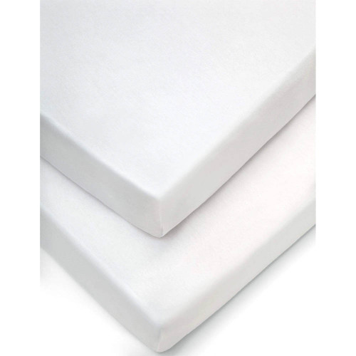 Mamas & Papas Cot Fitted Sheets (Pack of 2) - White