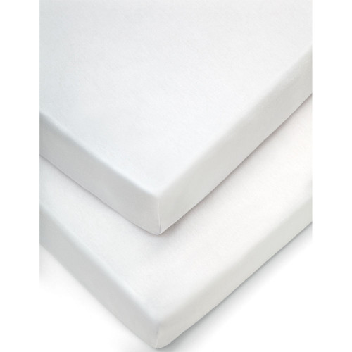 Mamas & Papas Moses Fitted Sheets (Pack of 2) - White