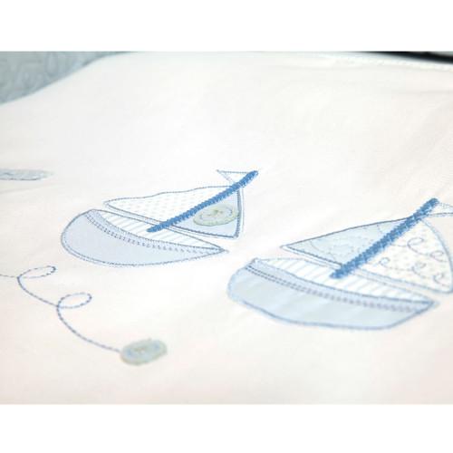 Silver Cross Cot Bed Quilt - Vintage Blue