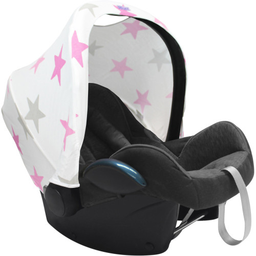 Dooky Hoody Replacement Infant Car Seat Hood - Pink Stars