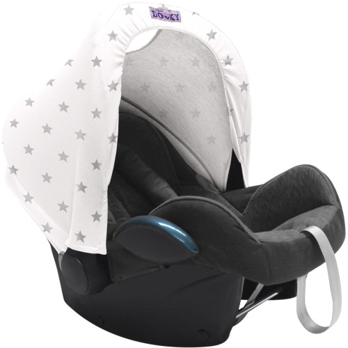 Dooky Hoody Replacement Infant Car Seat Hood - Silver Stars