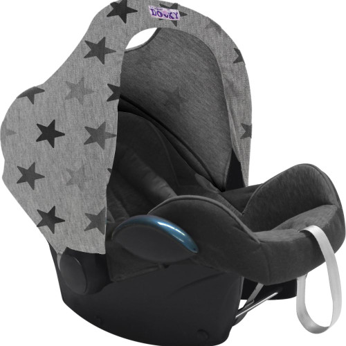 Dooky Hoody Replacement Infant Car Seat Hood - Grey Stars