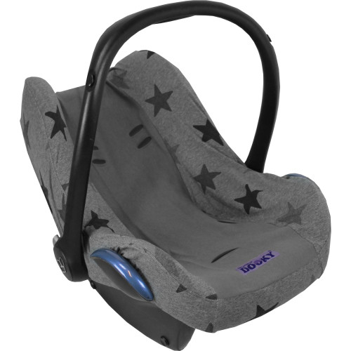 Dooky Infant Car Seat Cover 0+ - Grey Stars