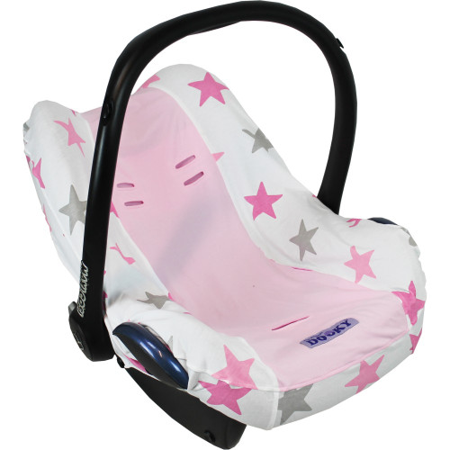 Dooky Infant Car Seat Cover 0+ - Pink Stars