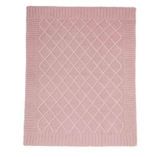 Mamas & Papas Knitted Blanket - 70 x 90cm - Dusky Rose