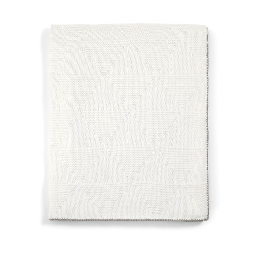 Mamas & Papas Knitted Blanket - 70 x 90cm - Geo Texture (folded)