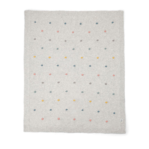 Mamas & Papas Knitted Blanket - 70 x 90cm - Spot