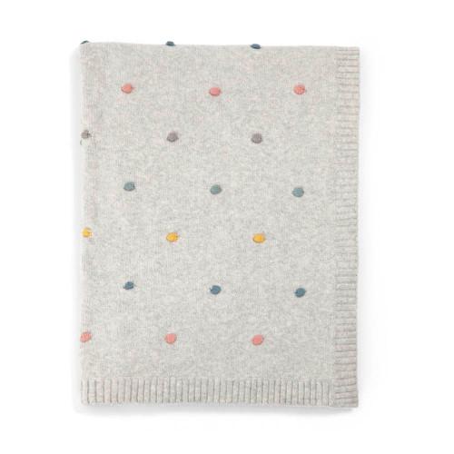 Mamas & Papas Knitted Blanket - 70 x 90cm - Spot (folded)