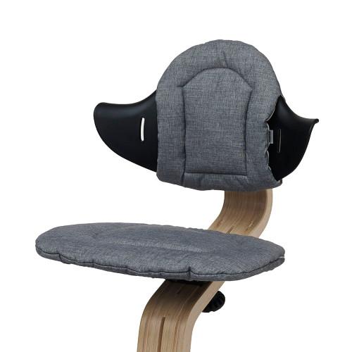 Nomi Highchair Cushion - Dark Grey/ Sand
