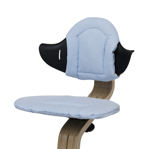 Nomi Highchair Cushion - Pale Blue/ Sand