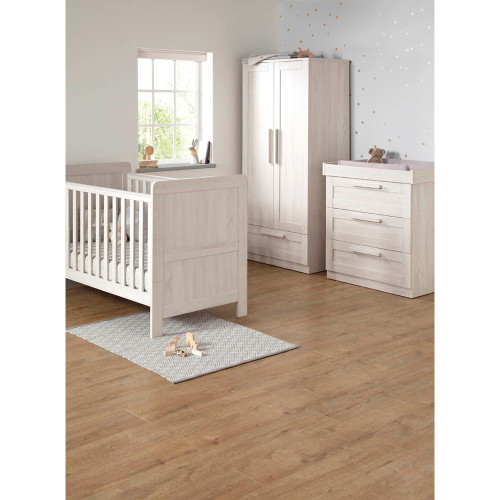 Mamas & Papas Atlas 3 Piece Cot/Toddler Bed Set - Nimbus White
