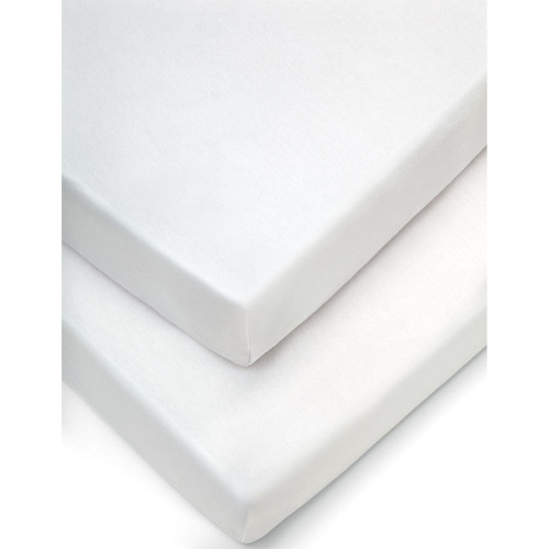 Mamas & Papas Cotbed Fitted Sheets (Pack of 2) - White