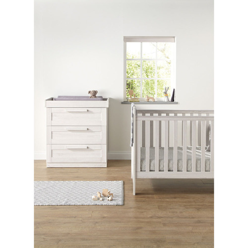 Mamas & Papas Atlas 2 Piece Cot/Toddler Bed Set - Nimbus White