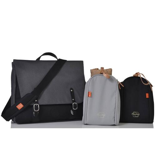 Pacapod prescott changing bag - black charcoal - pods