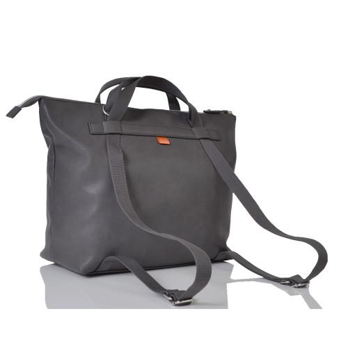 pacapod saunton changing bag - pewter - backpack