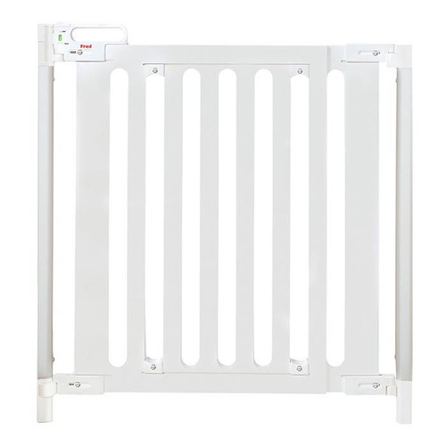 Fred Screw Fit Wooden Stairgate - White Wood/Pure White