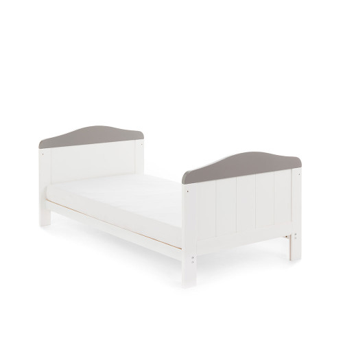Obaby Whitby Cot Bed - White with Taupe Grey - Bed