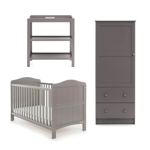 Obaby Whitby 3 Piece Room Set - Taupe Grey