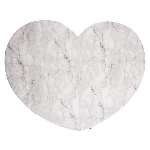 KIDKII Heart Playmat - White Marble