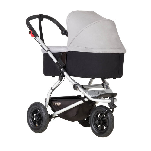 Mountain Buggy Carrycot Plus For Swift & Mini - Silver (Pushchair chassis is not included)