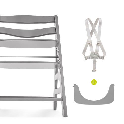 Hauck Alpha+ Wooden Highchair - Grey - set