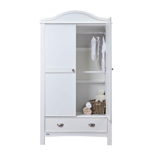 East Coast Toulouse Wardrobe - White - open