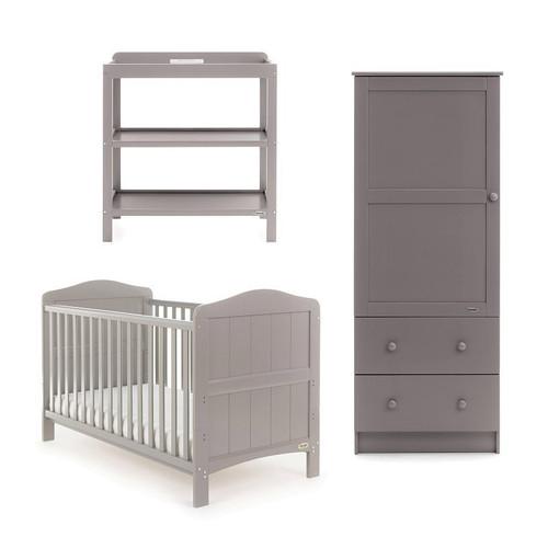 Obaby Whitby 3 Piece Room Set - Warm Grey