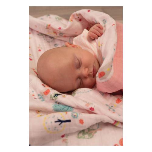 Bizzi Growin Muslin 3 Ply Blanket - Wonderland