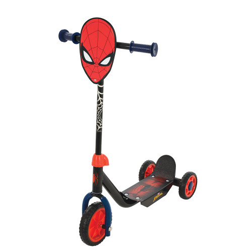 MV Sports Spiderman Deluxe Tri-Scooter (angled)