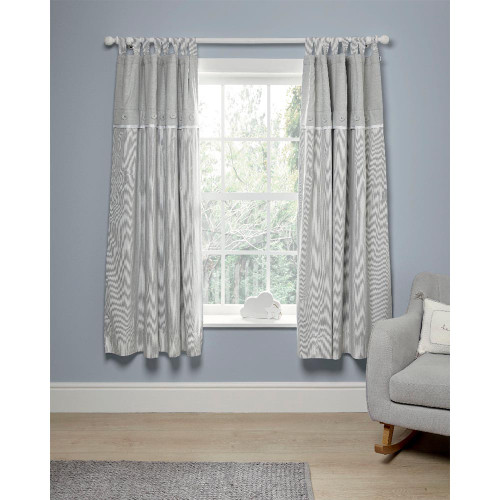 Mamas & Papas Welcome to the World Black Out Curtains (132x160cm) - Grey