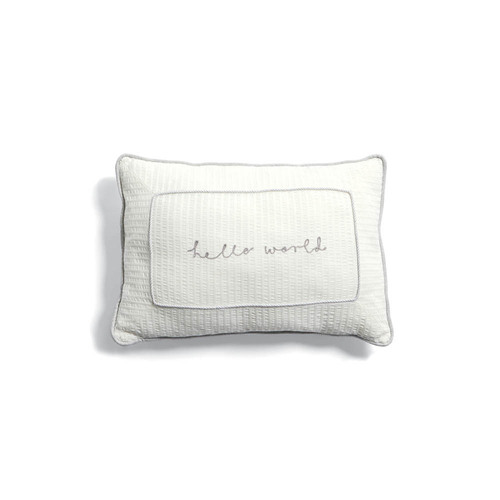 Mamas & Papas Welcome to the World Cushion - White