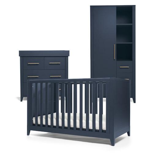 Mamas & Papas Melfi 3 Piece Range inc Storage Wardrobe - Midnight Blue