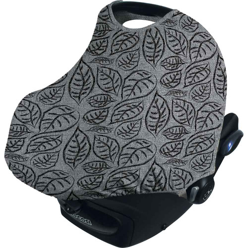 Dooky Hoody Replacement Infant Car Seat Hood - Grey Leaves