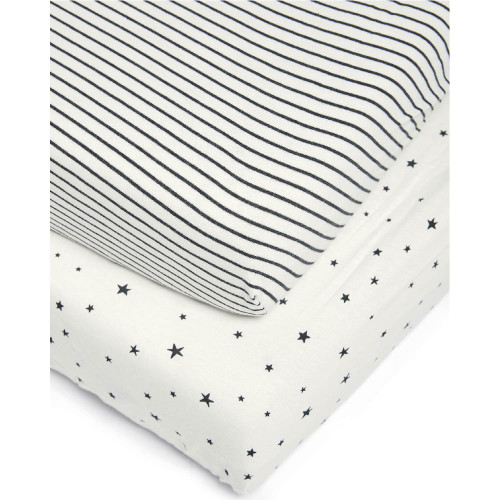 Mamas & Papas Cotbed Fitted Sheets (2 Pack) - Starry Skies