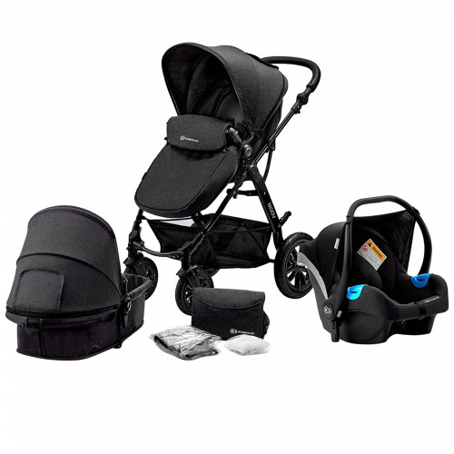 Kinderkraft Moov 3-in-1 Travel System - Black