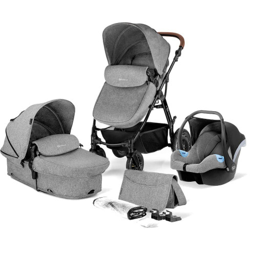 Kinderkraft Moov 3-in-1 Travel System - Grey Melange